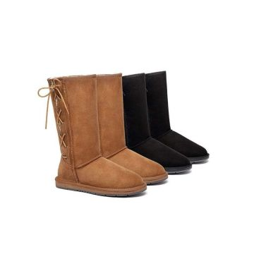 UGG Boots Australia Premium Double Face Sheepskin Tall Side Lace Up,Water Resistant 15983