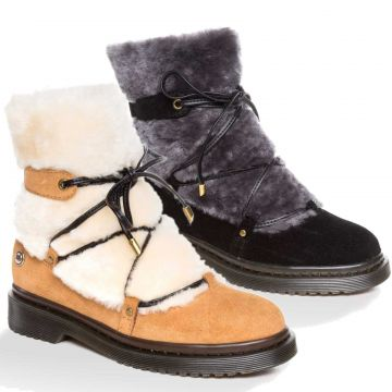 UGG OZWEAR Ladies Mary Shearling Fashion Boots Australian Premium Sheepskin Ob378