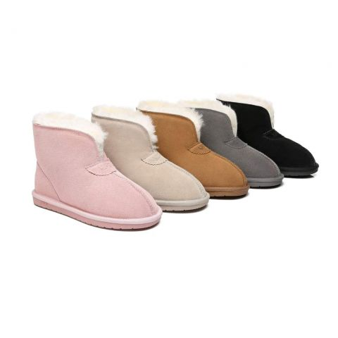 AS UGG Parker Unisex Ankle Premium Double-face Sheepskin Home Water-resistant Slipper AS2016