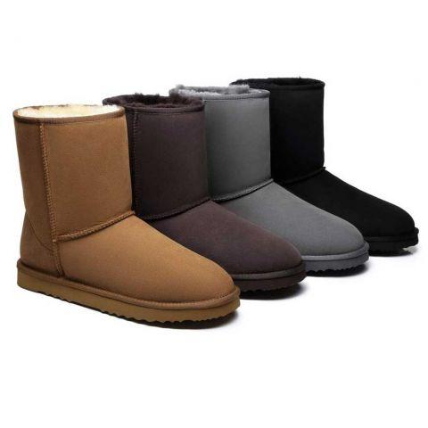 UGG Boots Men Large Size Short Classic,Australia Premium Double Face Sheepskin 15820