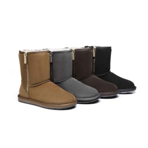 AS Short Zipper Ugg Boots 511015