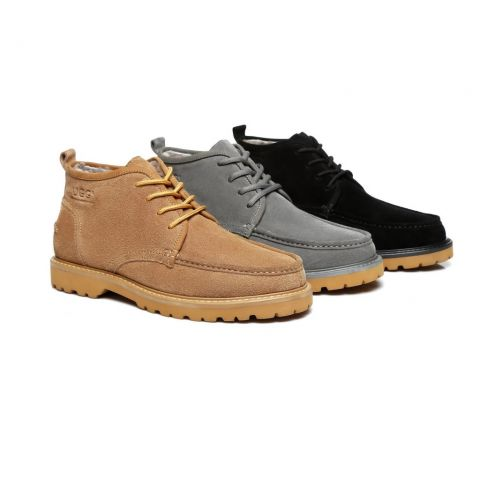 AS UGG Mini Boots Mens Lace up Shoes Justin
