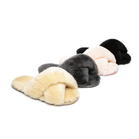 AS UGG Cross Fluffy Slides Linty AS2012