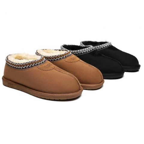 AS Unisex Ankle Slipper Venus Twin-Face Sheepskin Home Slippers AS2014S