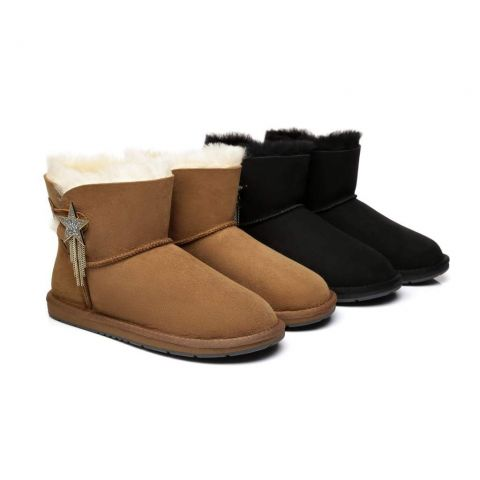 AS UGG Mini Boots Side Star Button Meteor AS3005
