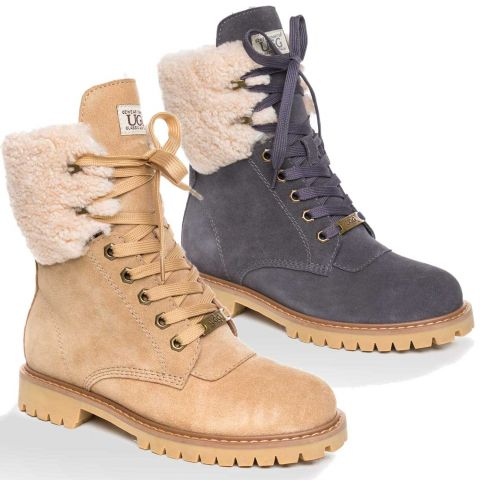 UGG OZWEAR Ladies Liliana Shearling Fashion Boots Australian Premium Sheepskin Ob376