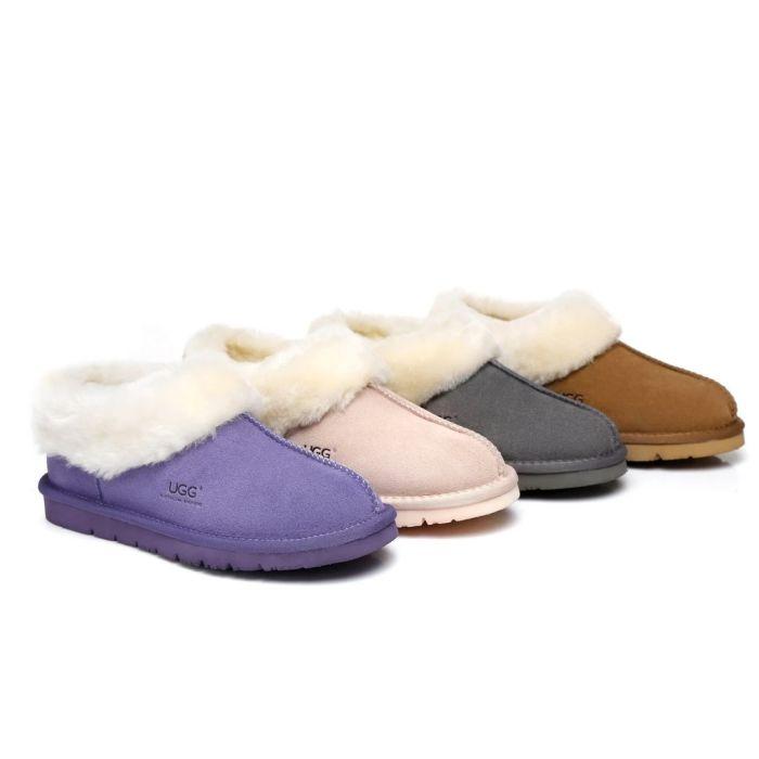 AS UGG Slippers Homey Unisex Sheepskin Slippers