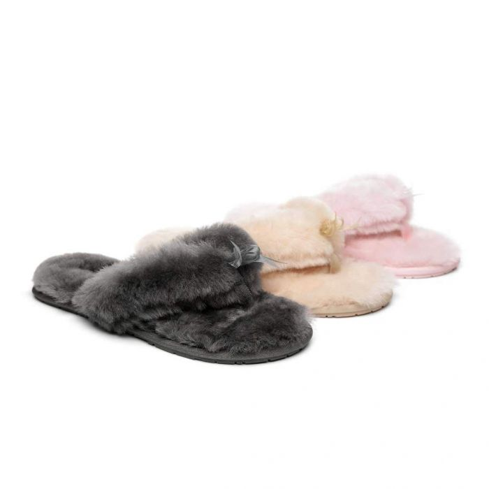 AS UGG Women Fluffy Slides Thongs Cinderella 15639