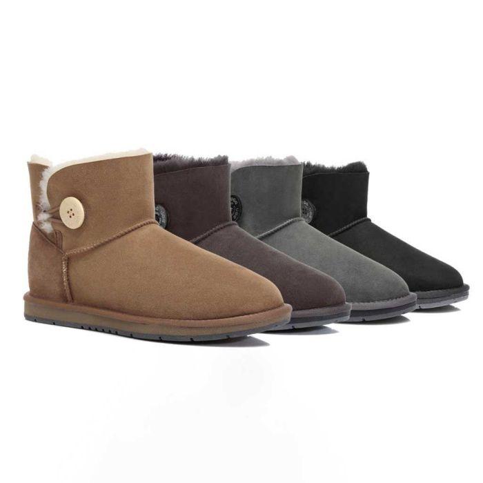 UGG Boots Australia Premium Double Face Sheepskin Mini Button,Water Resistant #15702