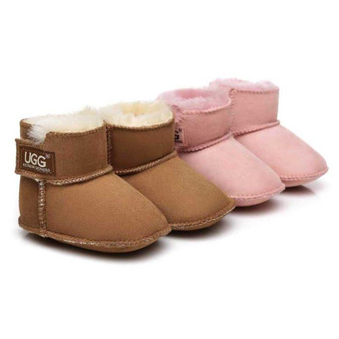 AS UGG Erin Australian Sheepskin Baby Booties Cradle