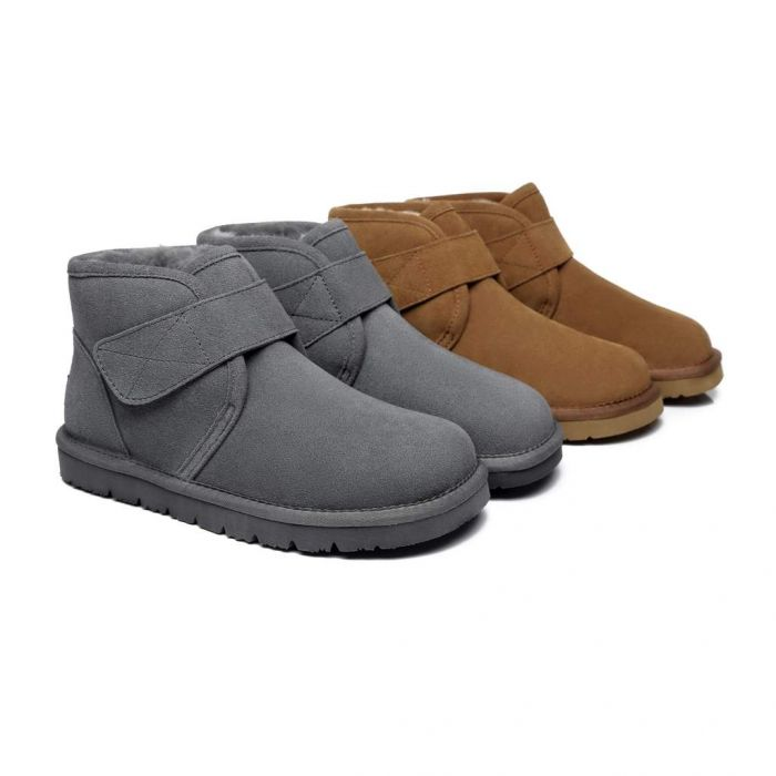 AS Unisex Sheepskin Ankle Ugg Boots Dylan
