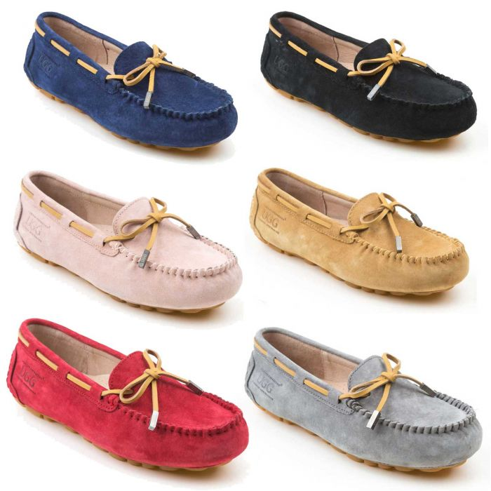 UGG OZWEAR Aven Lace Summer & Spring Moccasin Water Resistant Flat Shoes OB150II