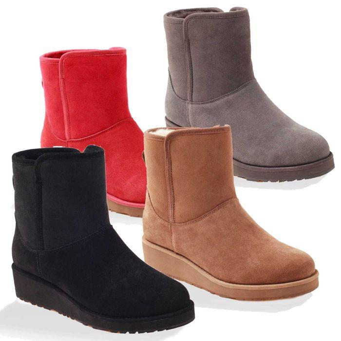 UGG OZWEAR Ladies Mia Classic Short Slim Boots Water Resistant Sheepskin Ob181