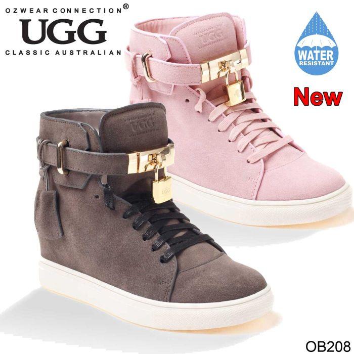 UGG OZWEAR Ladies Harper High Top Wedge Sneaker (Water Resistant) Sheepskin Ob208