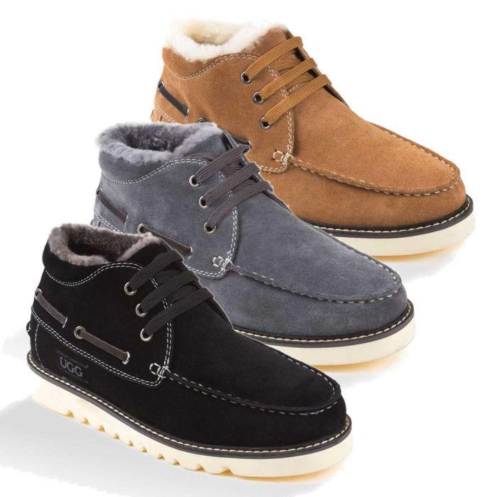 UGG OZWEAR Mens Ugg Benjamin Boots Premium Sheepskin Water Resistant Ob301