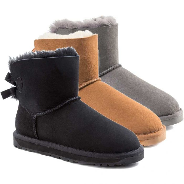 UGG OZWEAR Classic Iii Mini Bailey Bow Boots Australian Premium Sheepskin Water Resistant Ob365