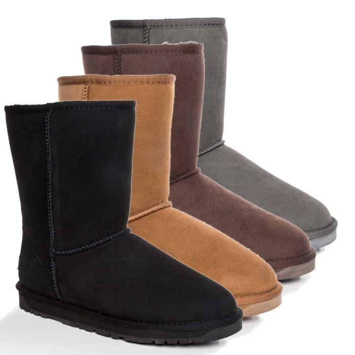 UGG OZWEAR 3rd Gen Mens Classic 3/4 Short Boots Premium Sheepskin Water Resistant Ob385