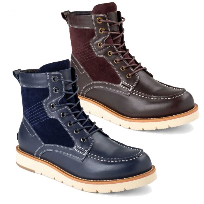 UGG OZWEAR Mens Cameron Lace Up Boots Cowskin Suede + Premium Sheepskin Wool Ob467